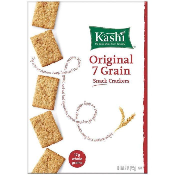 Kashi Original 7 Grain Snack Crackers 9 oz  (Pack of 12)