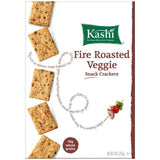 Kashi Fire Roasted Veggie Snack Crackers 9 oz  (Pack of 12)