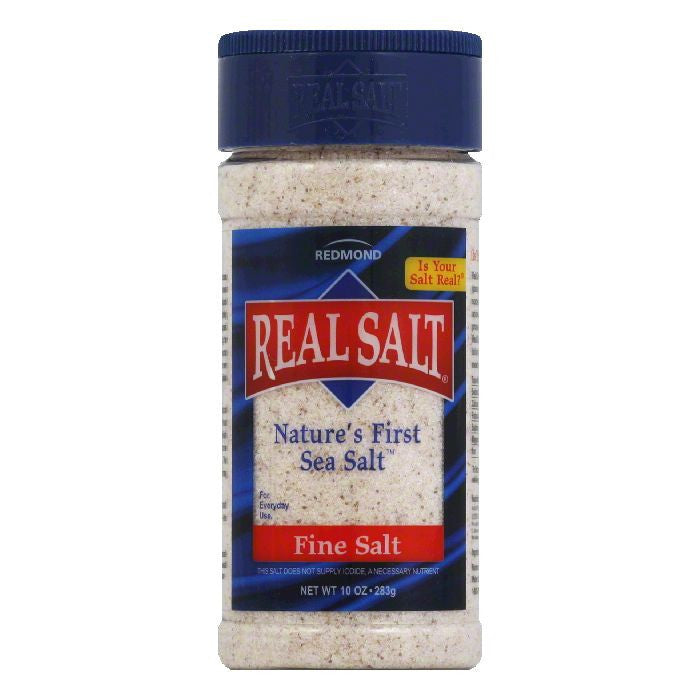 Redmond Fine Nature's First Sea Salt, 10 OZ (Pack of 12)
