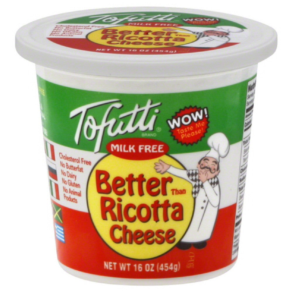 Tofutti Milk Free Better Than Ricotta Cheese, 16 Oz (Pack of 12)