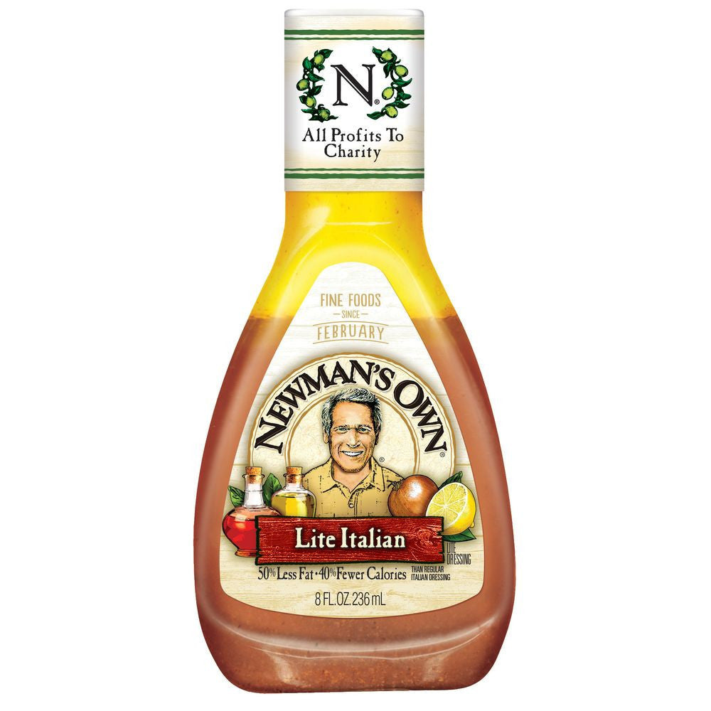 Newman's Own Light Italian Dressing, 8 OZ (Pack of 12)