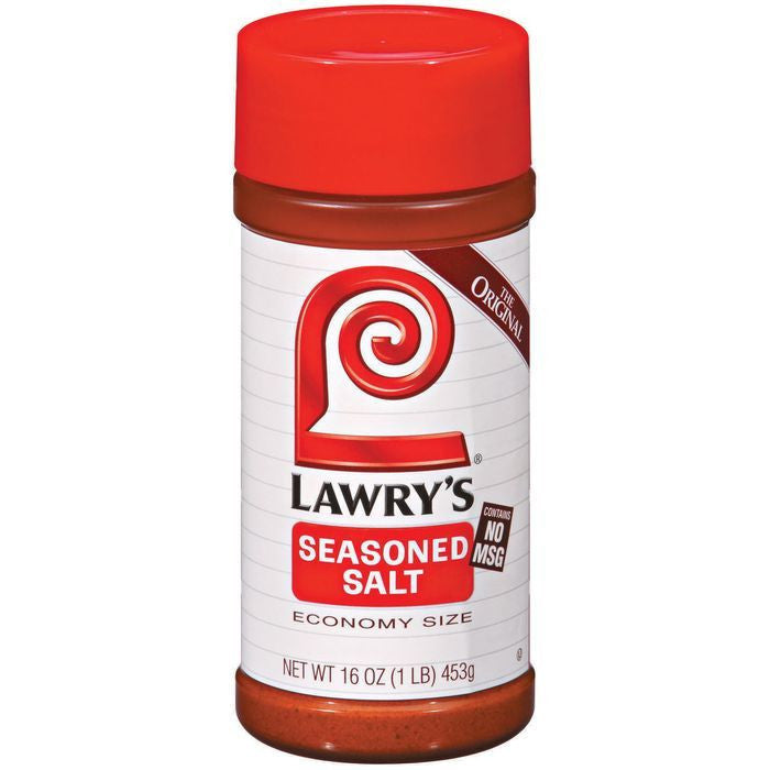 Spice & Seasoning The Original No Msg Economy Size Lawry's Seasoned Salt 16 Oz Shaker (Pack of 12)