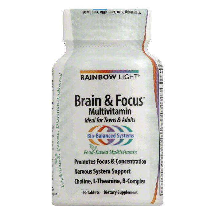 Rainbow Light Tablets Food-Based Formula Brain & Focus Multivitamin, 90 ea