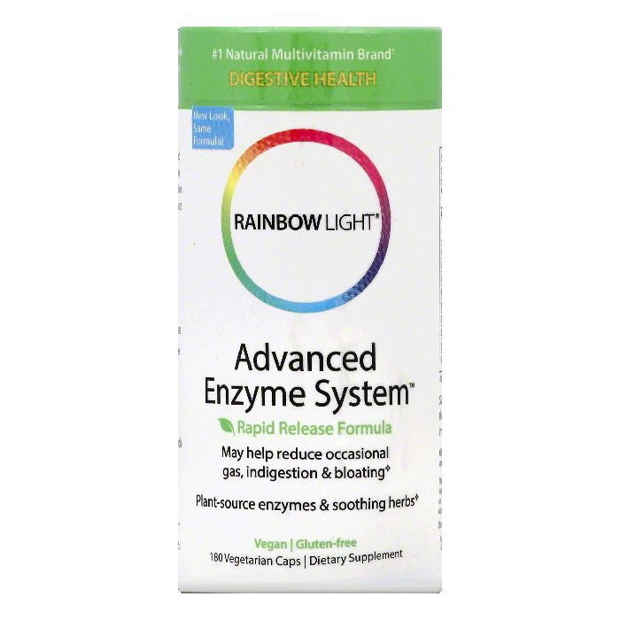 Rainbow Light Vegetarian Caps Advanced Enzyme System, 180 ea