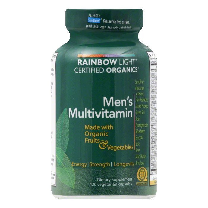 Rainbow Light Vegetarian Capsules Men's Multivitamin, 120 CP