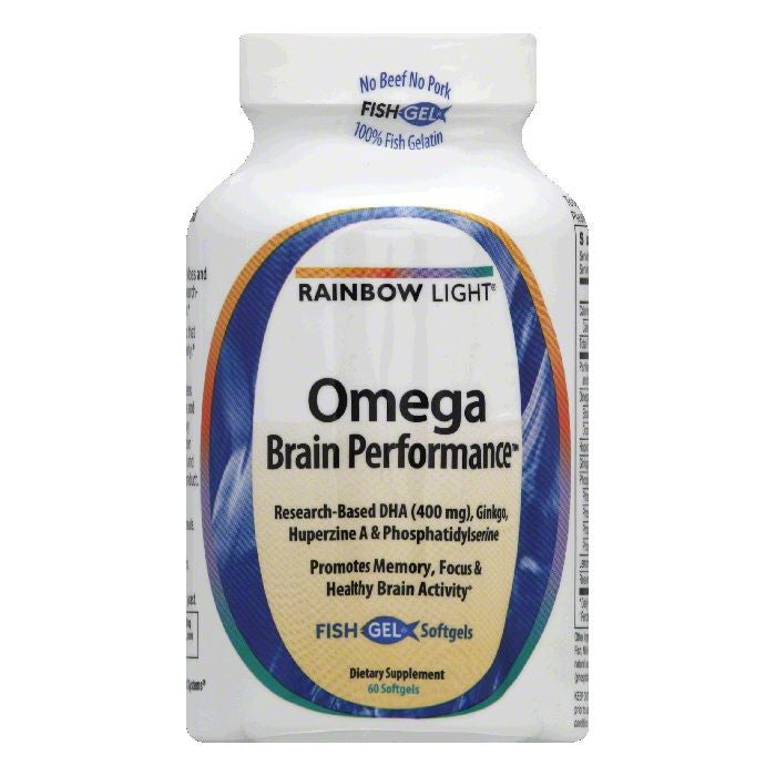 Rainbow Light Fish Gel Softgels Omega Brain Performance, 60 ea