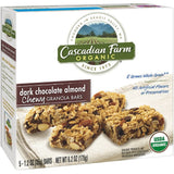 Cascadian Farm Organic Dark Chocolate Almond Chewy Granola Bars 5 ct  (Pack of 12)