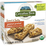 Cascadian Farm Organic Sweet & Salty Peanut Pretzel Chewy Granola Bars 5 ct.  (Pack of 12)