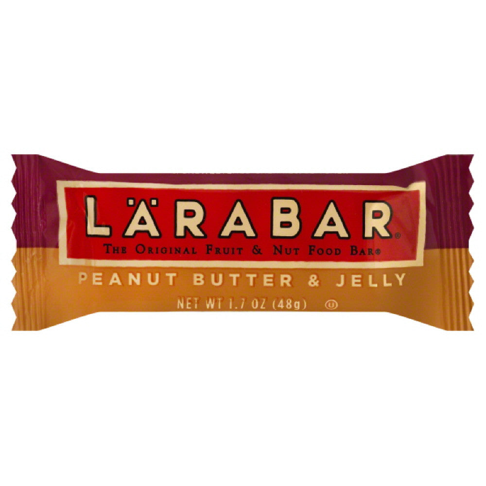 Larabar Peanut Butter & Jelly Fruit & Nut Food Bar, 1.7 Oz (Pack of 16)