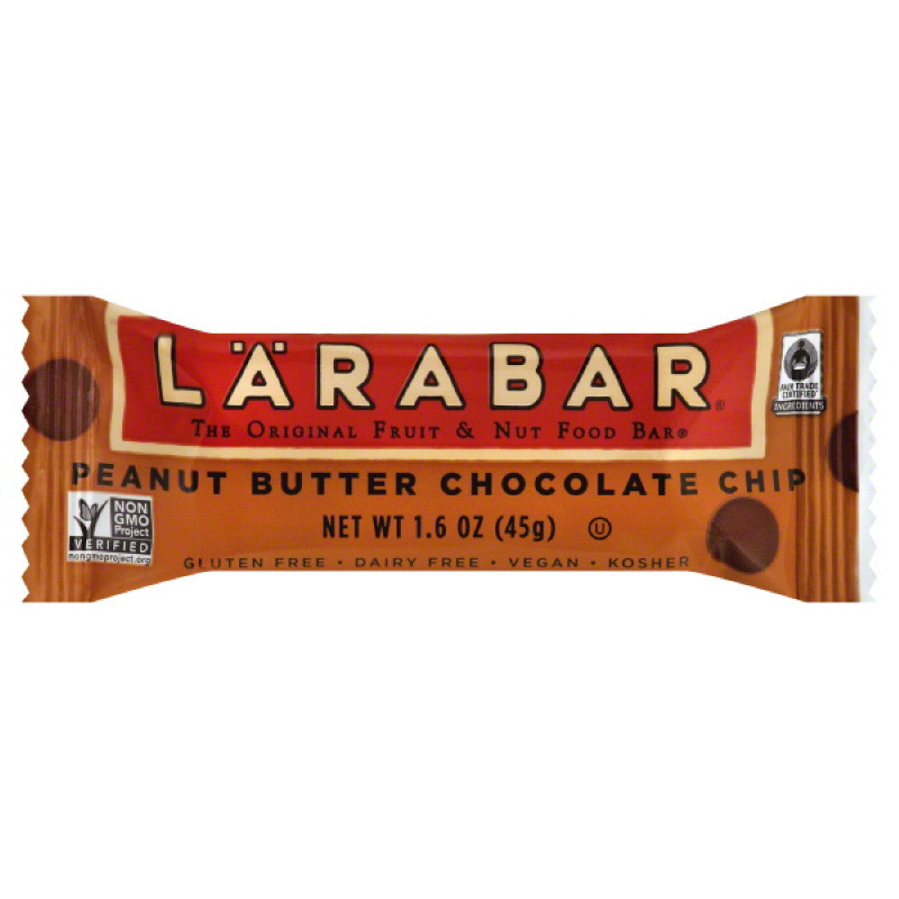 Larabar Peanut Butter Chocolate Chip Fruit & Nut Food Bar, 1.6 Oz (Pack of 16)
