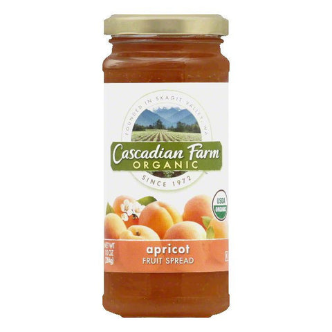 Cascadian Farms Organic Apricot Fruit Spread, 10 OZ (Pack of 6)