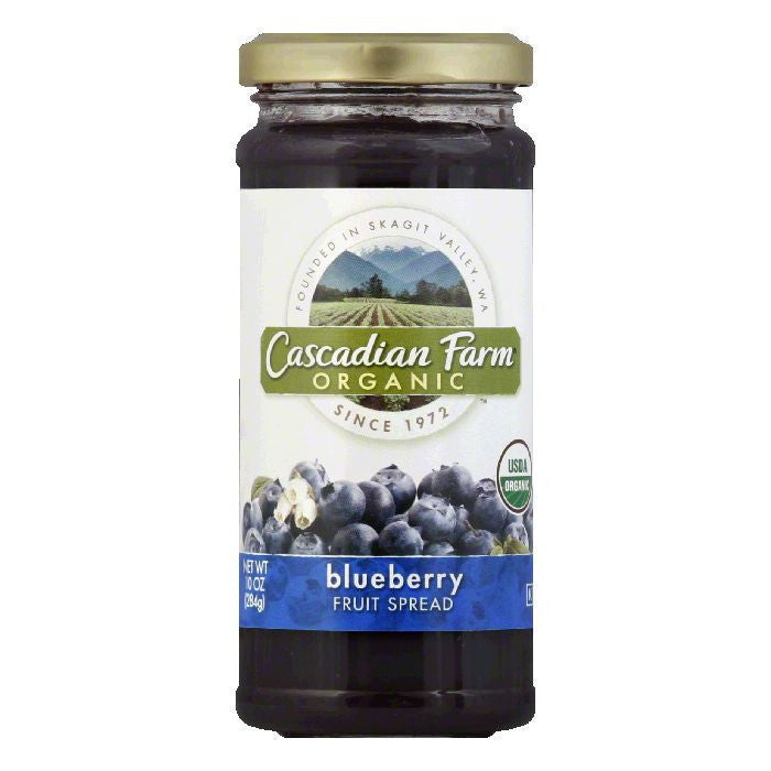 Cascadian Farms Organic Blueberry Fruit Spread, 10 OZ (Pack of 6)