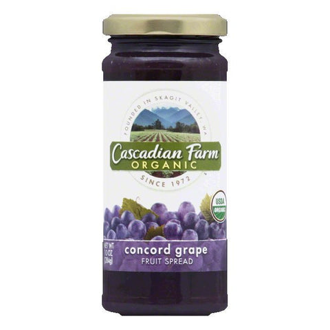 Cascadian Farms Organic Concord Grape Fruit Spread, 10 OZ (Pack of 6)