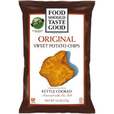 Food Should Taste Good Original Kettle Cooked Sweet Potato Chips 4.5 Oz Bag (Pack of 12)