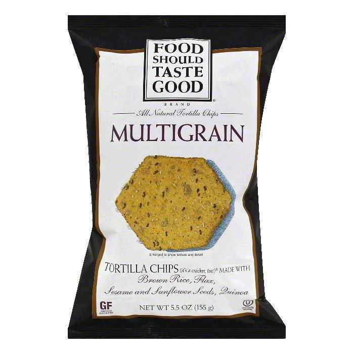 Food Should Taste Good Multigrain Tortilla Chips 5.5 Oz Bag (Pack of 12)