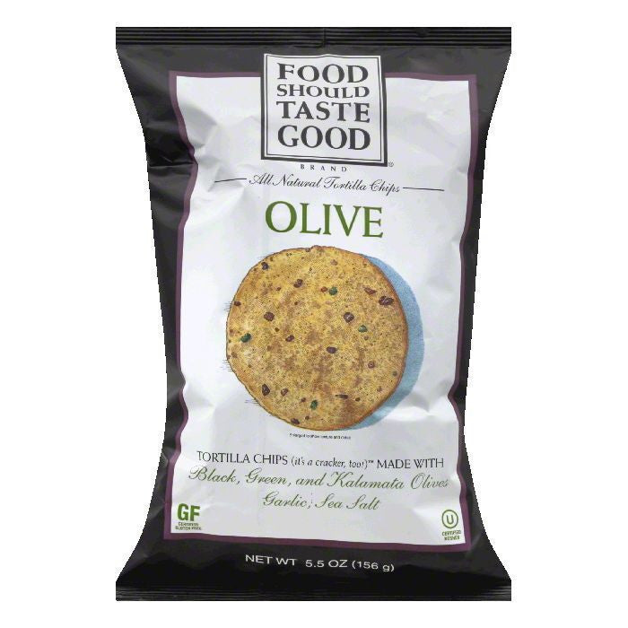 Food should Taste Good Olive Oil Tortilla Chips, 5.5 OZ (Pack of 12)