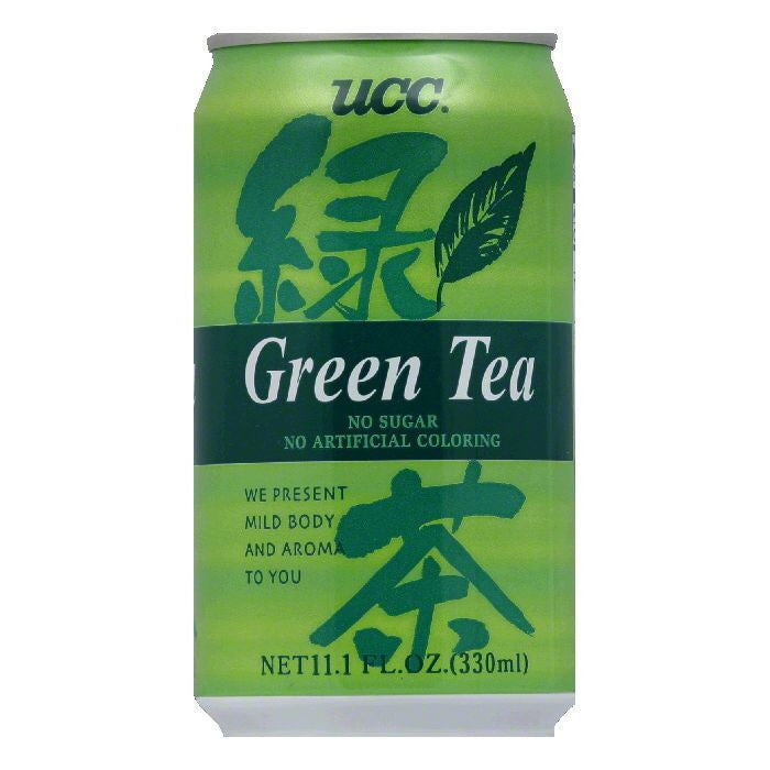 UCC Green Tea Can, 11.1 FO (Pack of 24)