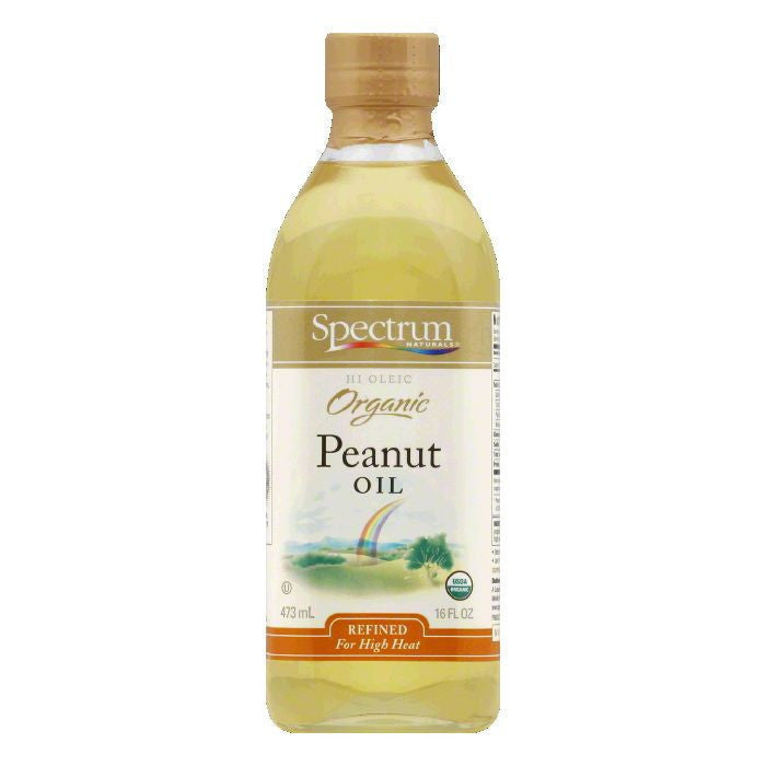 Spectrum Hi Heat Organic Peanut Oil, 16 FO (Pack of 6)