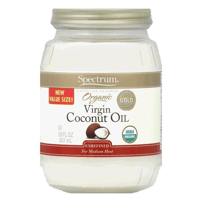 Spectrum Unrefined Value Size Virgin Coconut Oil, 29 Oz (Pack of 6)