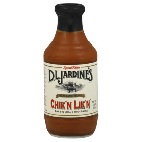 DL Jardines Special Edition Chik'n Lik'n Bar-B-Q Grill & Oven Sauce, 18 Oz (Pack of 6)