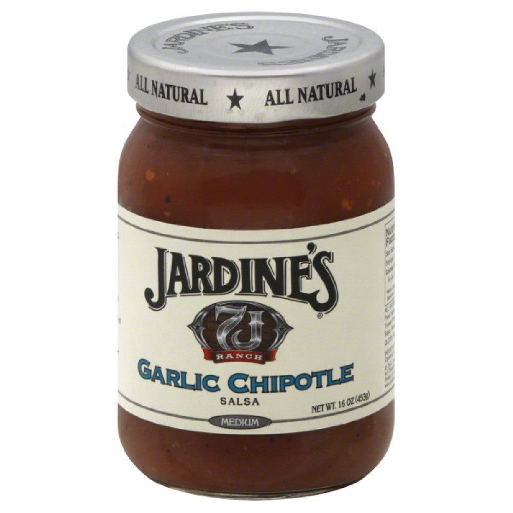 Jardines Medium Garlic Chipotle Salsa, 16 Oz (Pack of 6)
