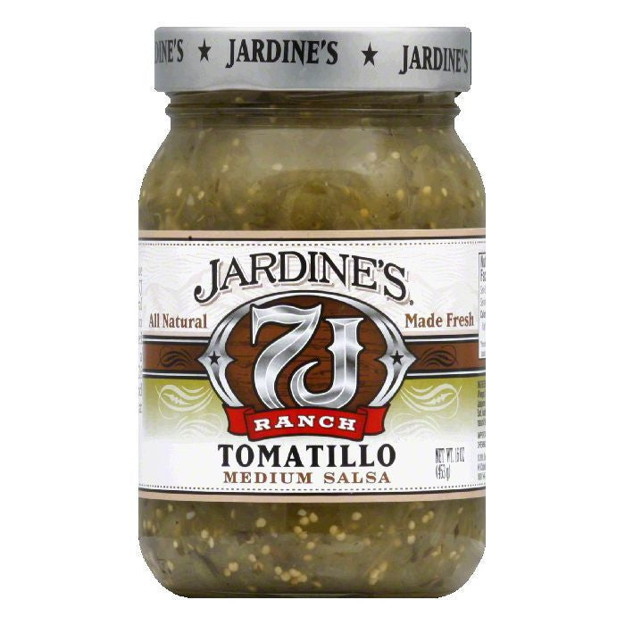 Jardines Tomatillo Salsa Medium, 16 OZ (Pack of 6)