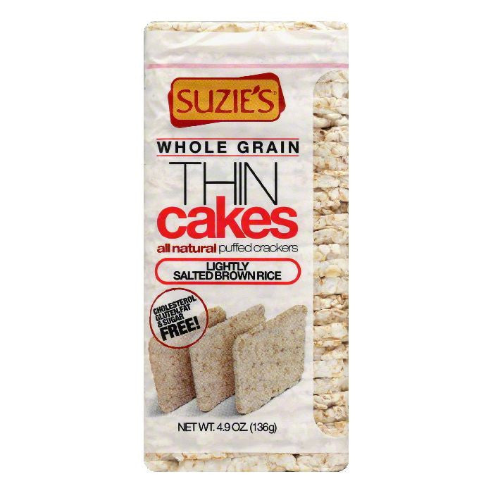 Suzies Lightly Salted Brown Rice Puffed Crackers, 4.9 OZ (Pack of 12)