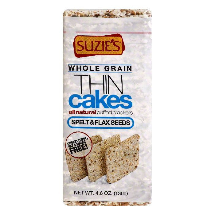 Suzies Whole Grain Thin Cakes, 4.6 OZ (Pack of 12)