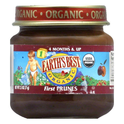 Earth's Best First Prunes, 2.5 OZ (Pack of 12)
