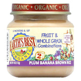 Earth's Best Fruit & Whole Grains Plumb Banana Rice, 4 OZ (Pack of 12)