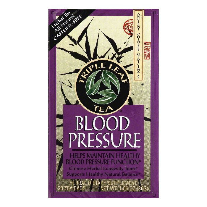 Triple Leaf Tea Bags Caffeine-Free Blood Pressure Herbal Tea, 20 ea (Pack of 6)