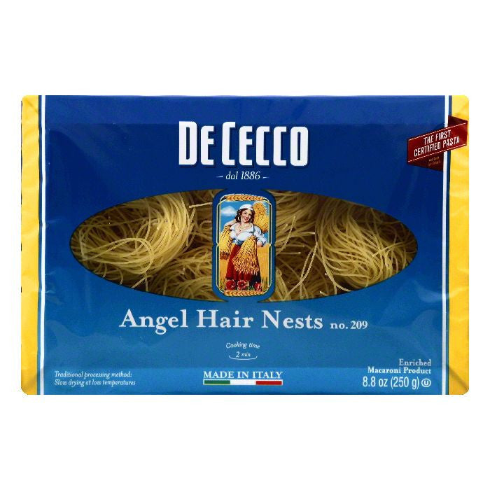 De Cecco No. 209 Angel Hair Nests, 8.8 OZ  ( Pack of  12)