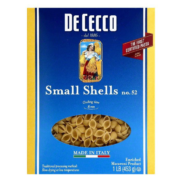 De Cecco No. 52 Small Shells, 1 lb (Pack of 20)