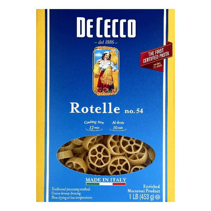 De Cecco No. 54 Rotelle, 1 lb  ( Pack of  12)