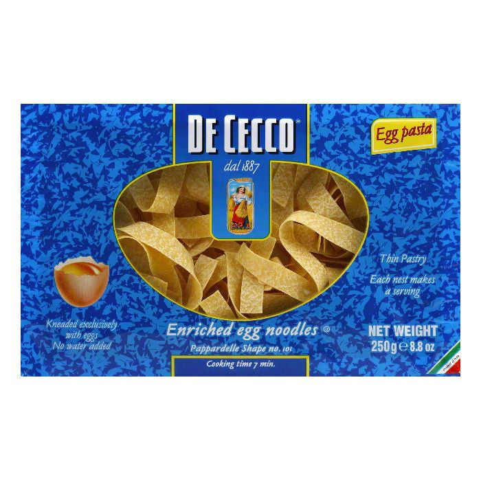 De Cecco Shape No. 101 Pappardelle, 8.8 Oz (Pack of 12)