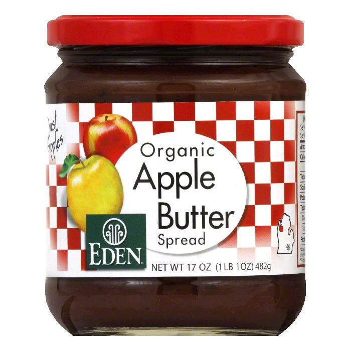 Eden Organic Apple Butter, 17 OZ (Pack of 12)