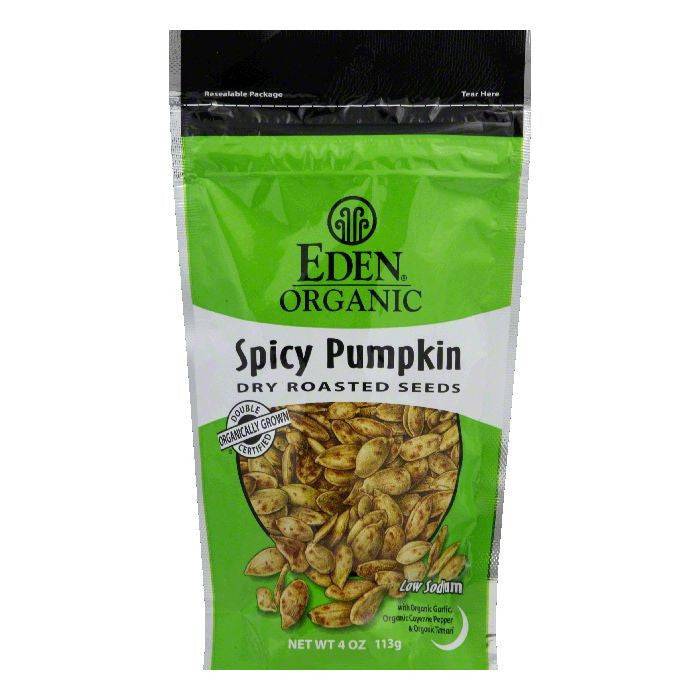 Eden Pumpkin Seeds Spicy with Tamari, 4 OZ (Pack of 15)