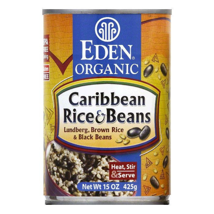 Eden Black Beans Organic Caribbean, 15 OZ (Pack of 12)
