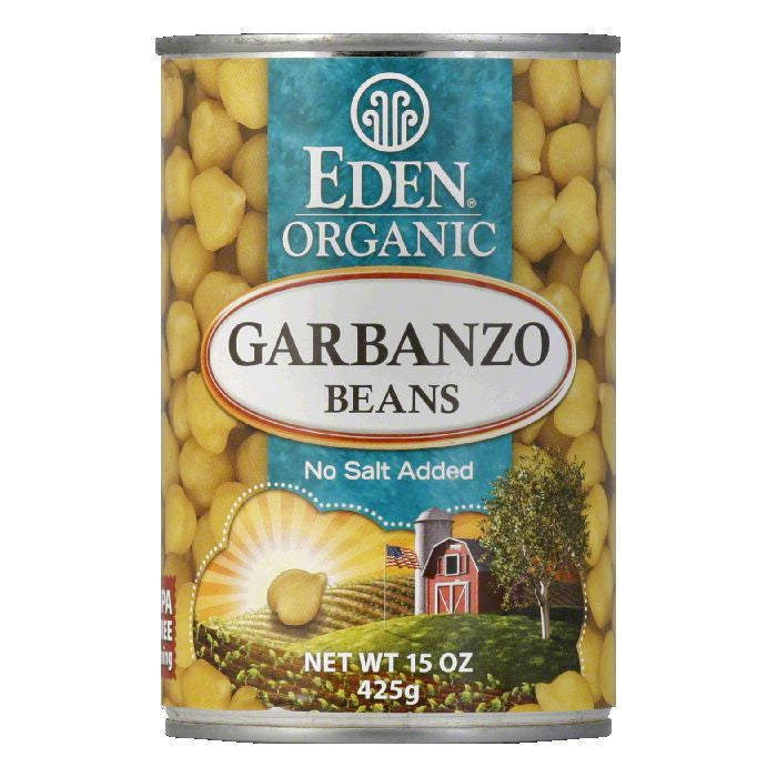 Eden Organic Garbanzo Beans, 15 OZ (Pack of 12)