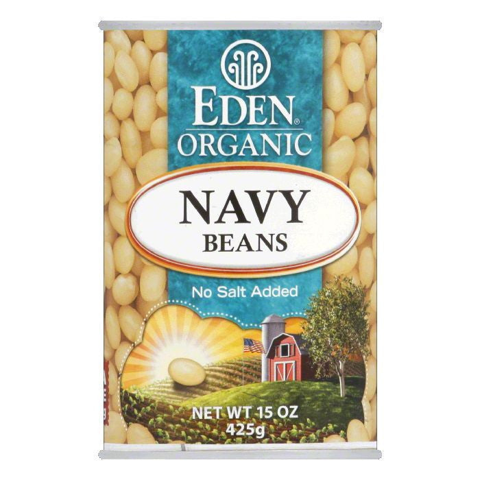 Eden Beans Navy Organic, 15 OZ (Pack of 12)