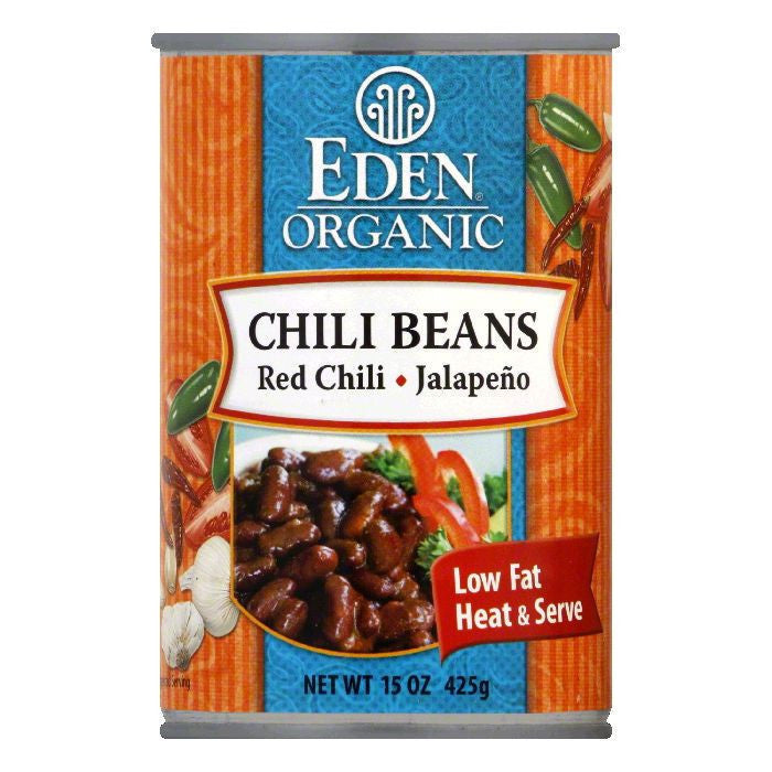 Eden Organic Chili Beans With Jalapenos And Red Peppers, 15 OZ (Pack of 12)