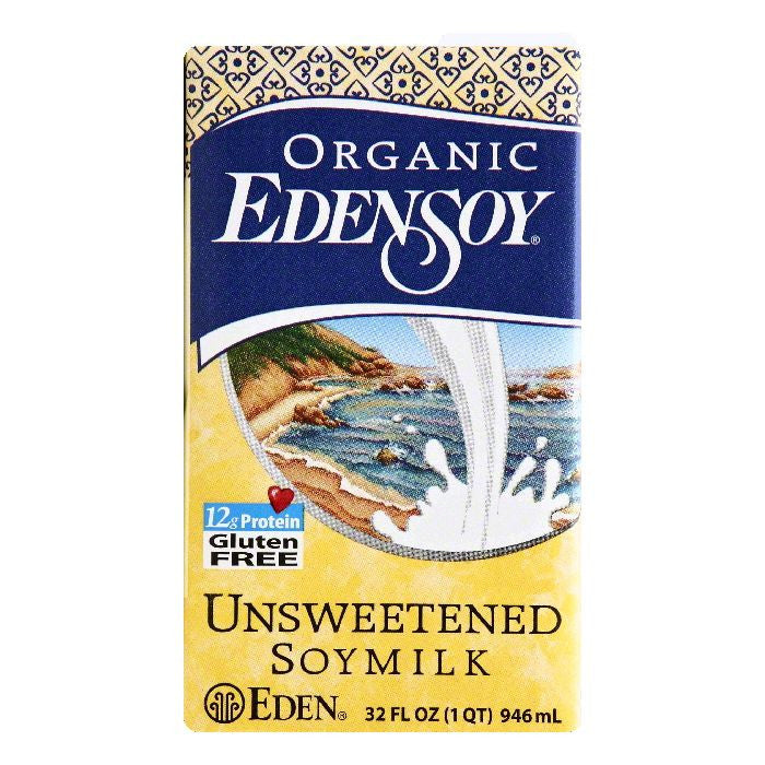 EdenSoy Unsweetened Soymilk, 32 OZ (Pack of 12)
