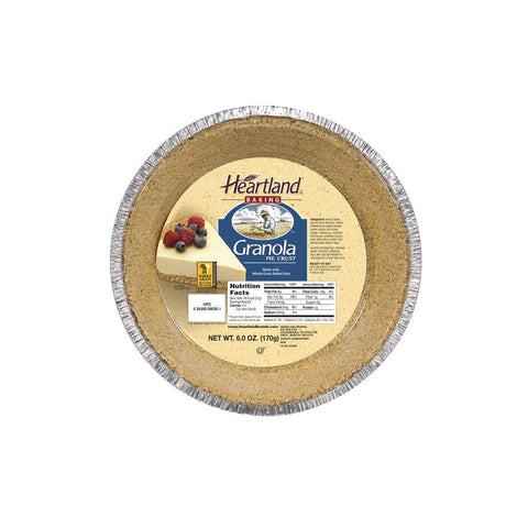 Heartland 9 Inch Granola Pie Crust, 6 OZ (Pack of 12)