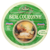 Henri Hutin Brie Couronne with Chives Cheese, 2.2 Lb (Pack of 2)