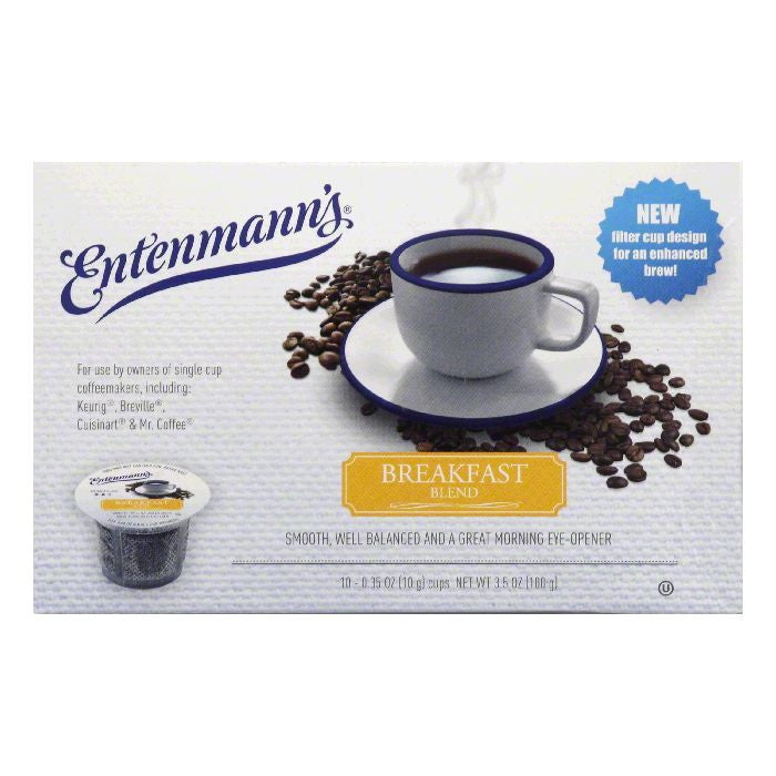 Entenmanns Breakfast Blend Medium Roast Single Serve Cups Coffee, 10 ea (Pack of 4)