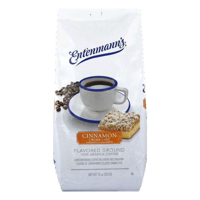 Entenmanns Cinnamon Crumb Cake Ground Coffee, 10 OZ (Pack of 6)