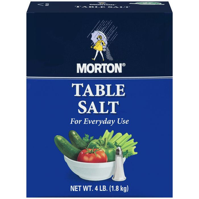 Morton Table Salt 4 lb. (Pack of 9)