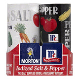 Morton Salt & Pepper Shakers 2 pack, 5.25 OZ (Pack of 12)