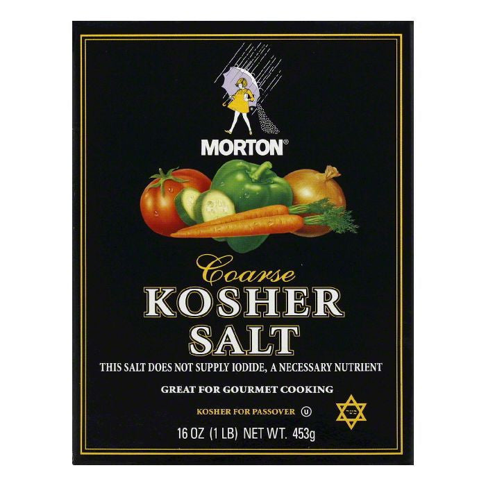 Morton Kosher Salt, 16 OZ (Pack of 12)