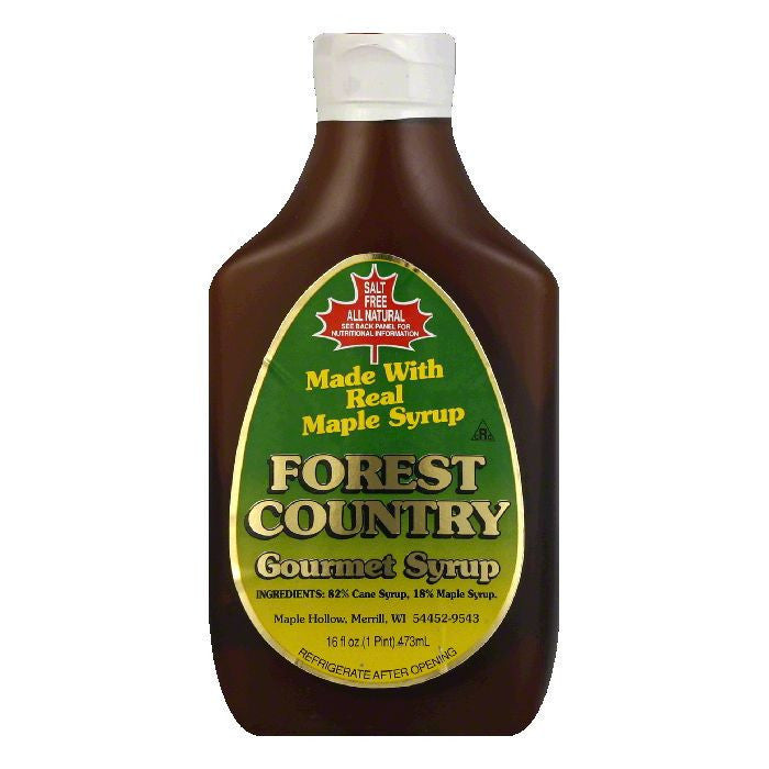 Forest Country Syrup, 16 OZ (Pack of 12)